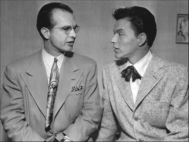 Wally King and Frank Sinatra