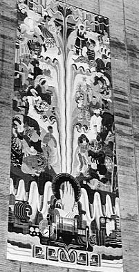 Black and White Mural Image