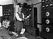 Herrold at KQW transmitter