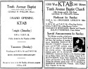 KTAB ads in Tribune